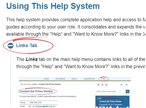 Help System Features